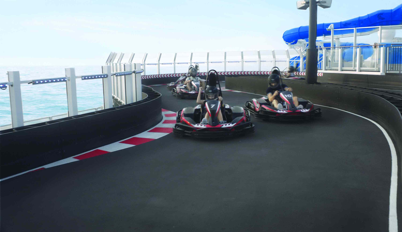 Norwegian Bliss cruise ship go-karts