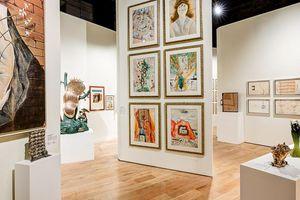 Gallery in the Dali Paris museum