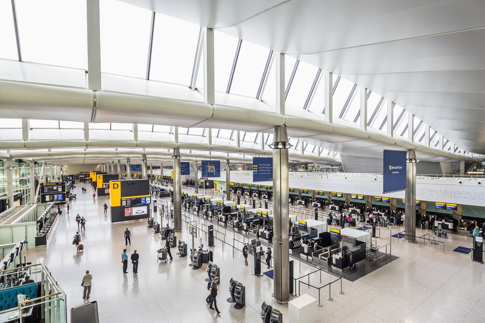 the interior of new Terminal 2 at heathrow airport