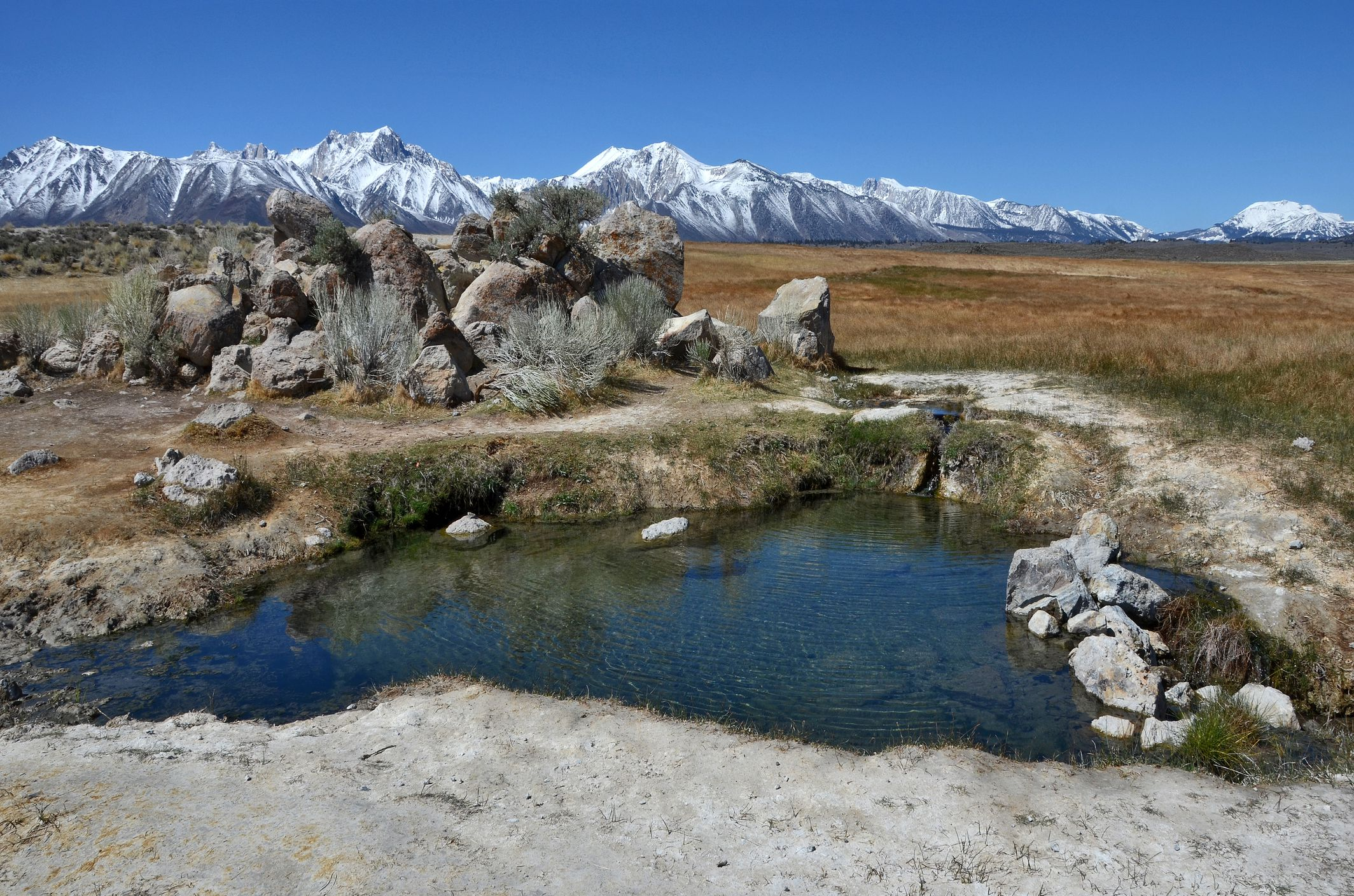 Benton Hot Springs, California: Camp with Private Hot Tubs