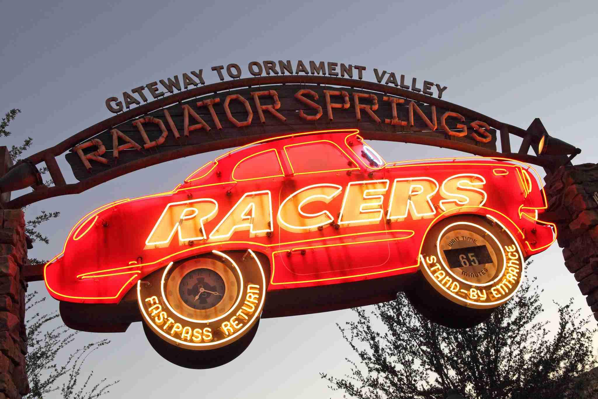 Radiator Springs Racers Sign