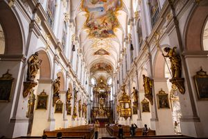 St. Peter's Church in Munich's Old Town, Germany