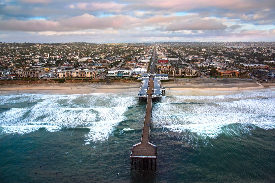 Pacific Beach is home to gourmet restaurants by the beach.