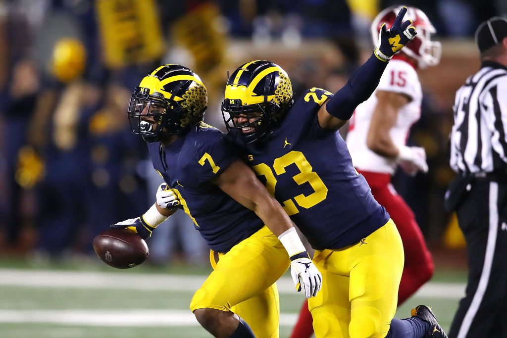 Michigan Wolverines playing against Indiana Hoosiers