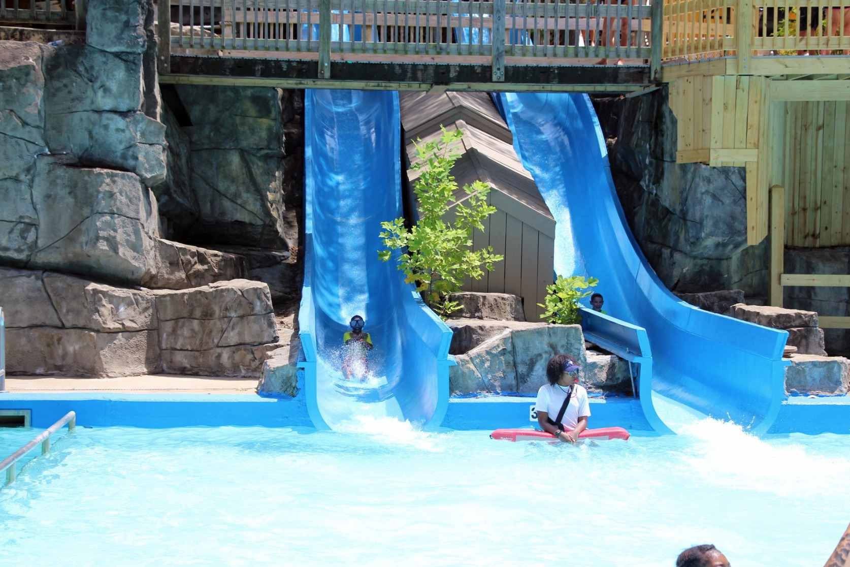 Lizard's Tail slide ride at Six Flags White Water