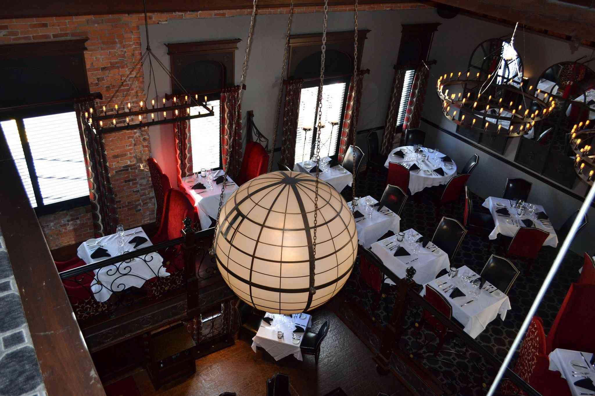Buffalo Chophouse overhead view of dining room
