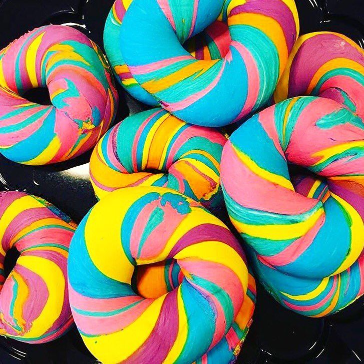 The Rainbow Bagel -- The Most Instafamous Snacks in NYC