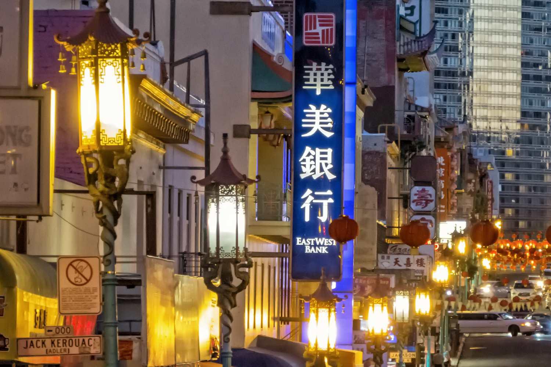 San Francisco Chinatown at Night