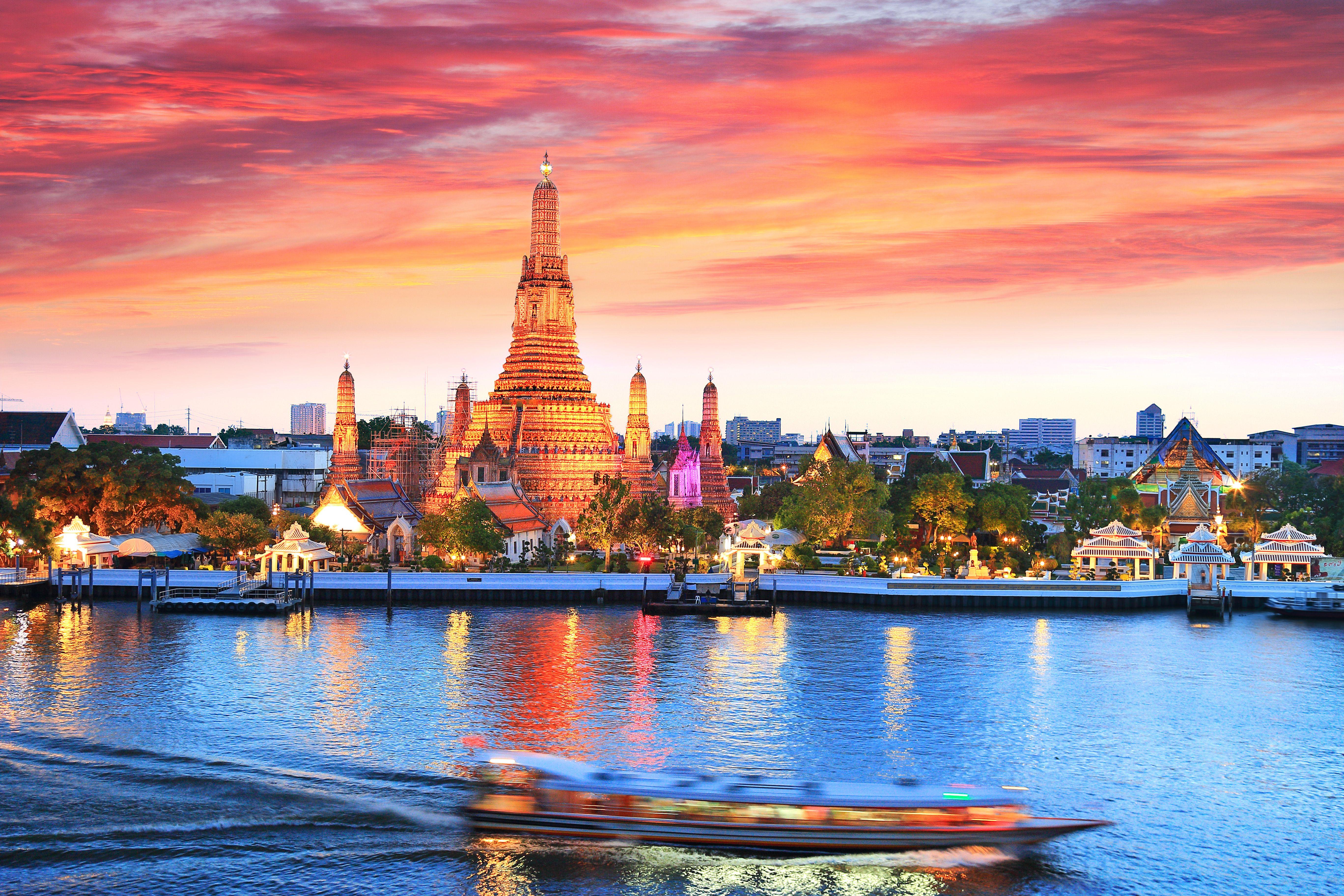 Wat Arun on the Chao Phraya River in Bangkok