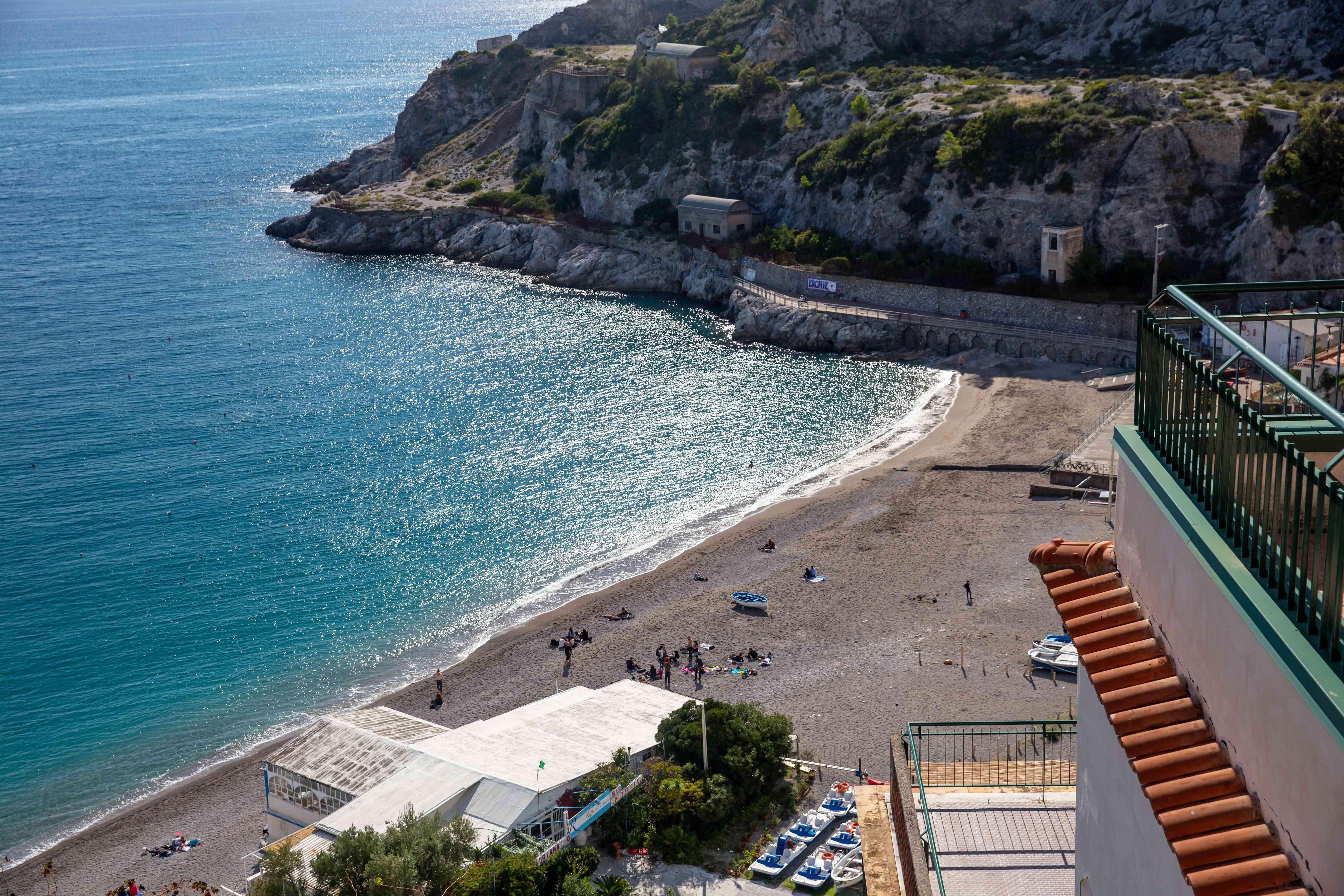 Cauco Beach in Erchie, Amalfi, Italy