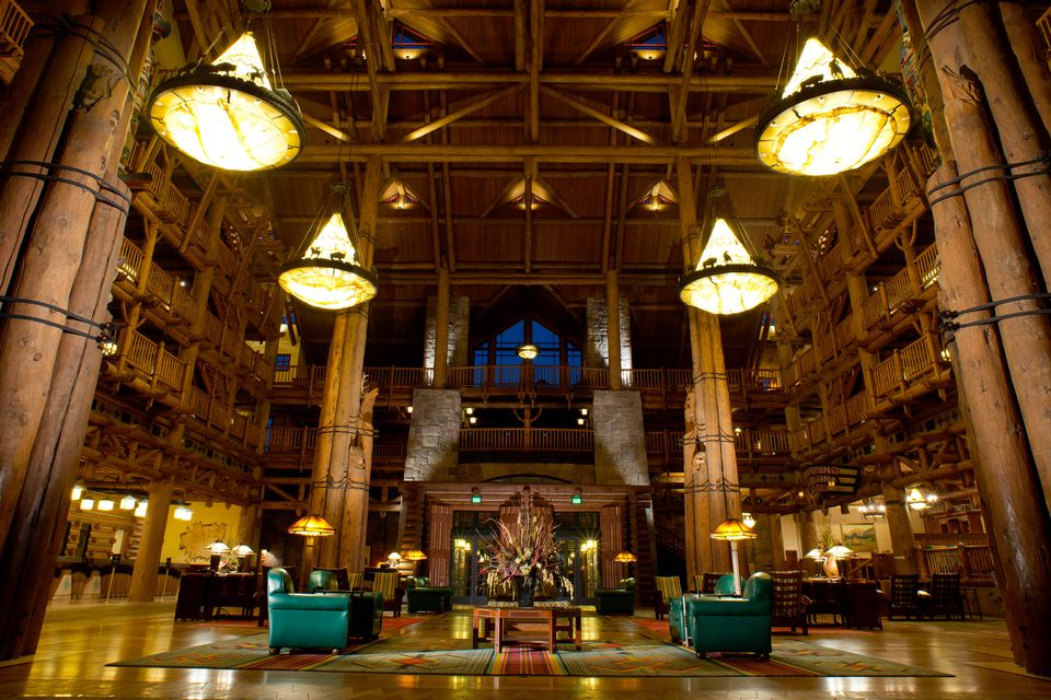 El vestíbulo del Wilderness Lodge