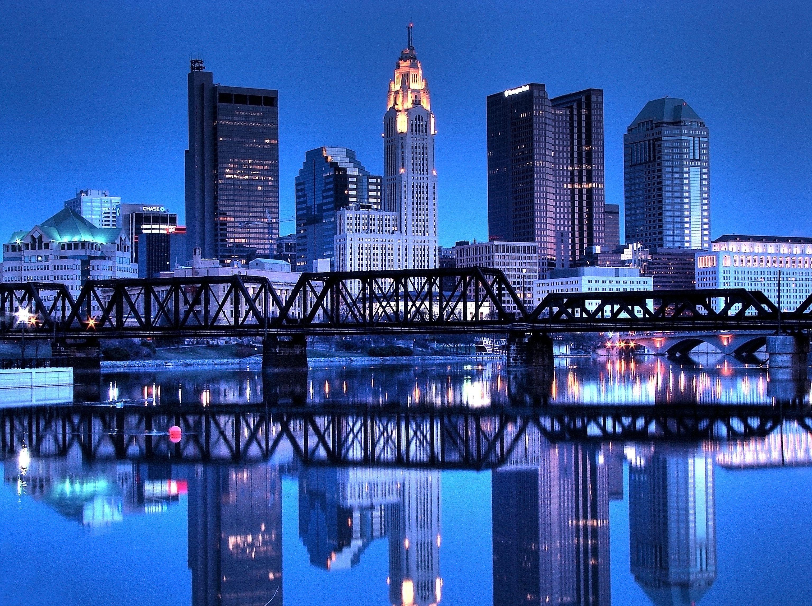Columbus, OH Skyline Reflected