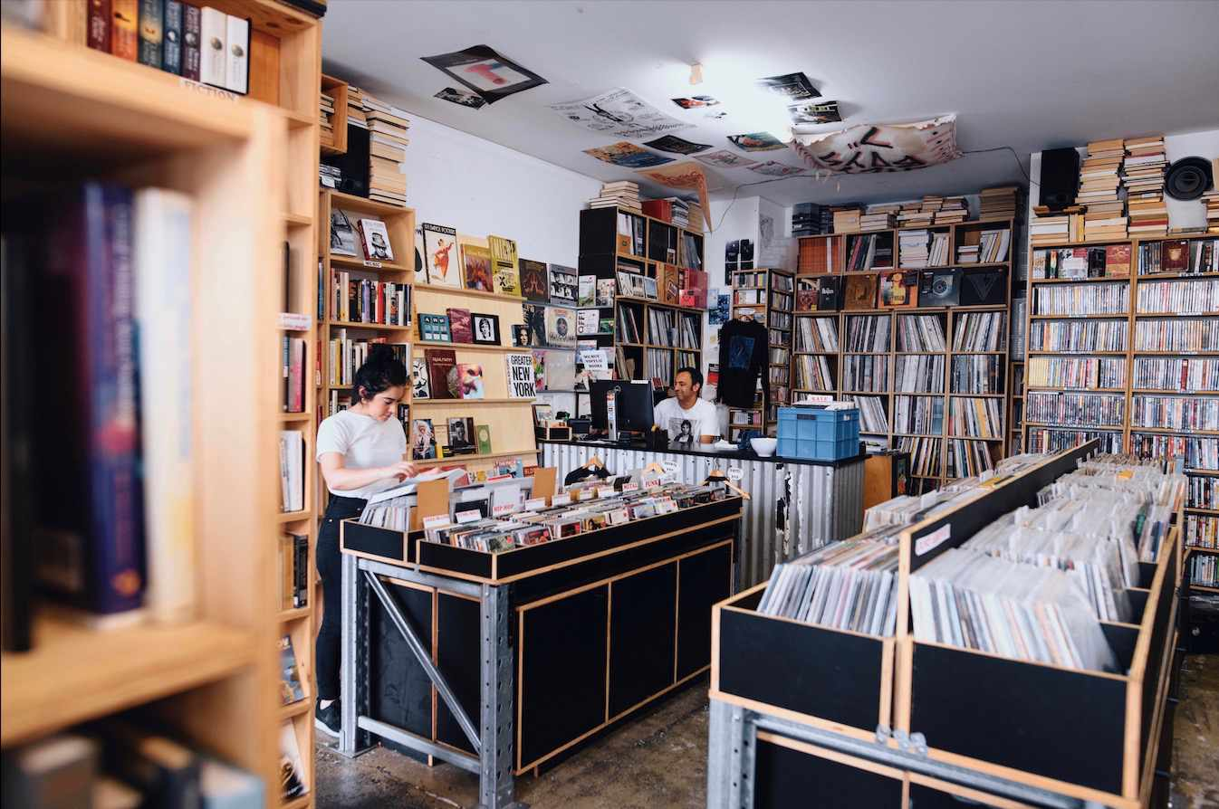 Record shop in Newtown