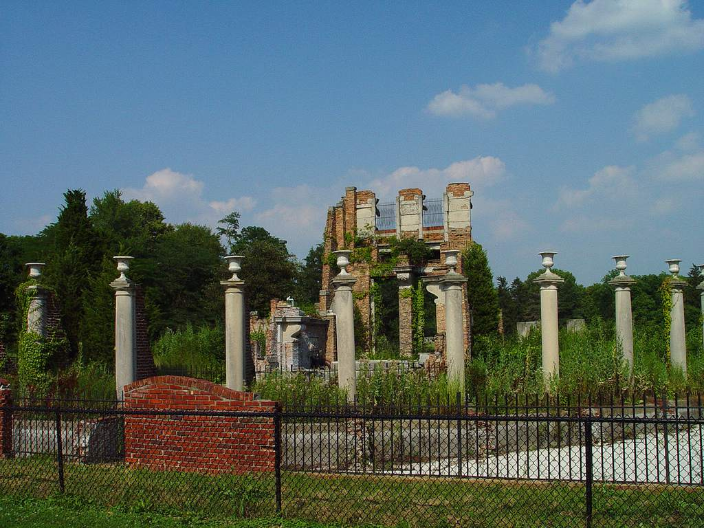 The Ruins on Indy's north side at Holliday Park Indianapolis.