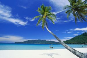 Blue sky and water at Perhentian Kecil, Malaysia