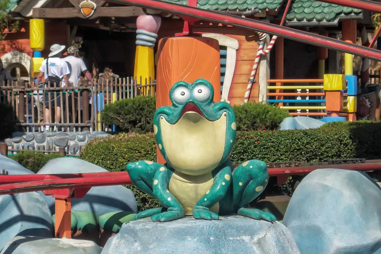 Frog at Gadget's Go Coaster