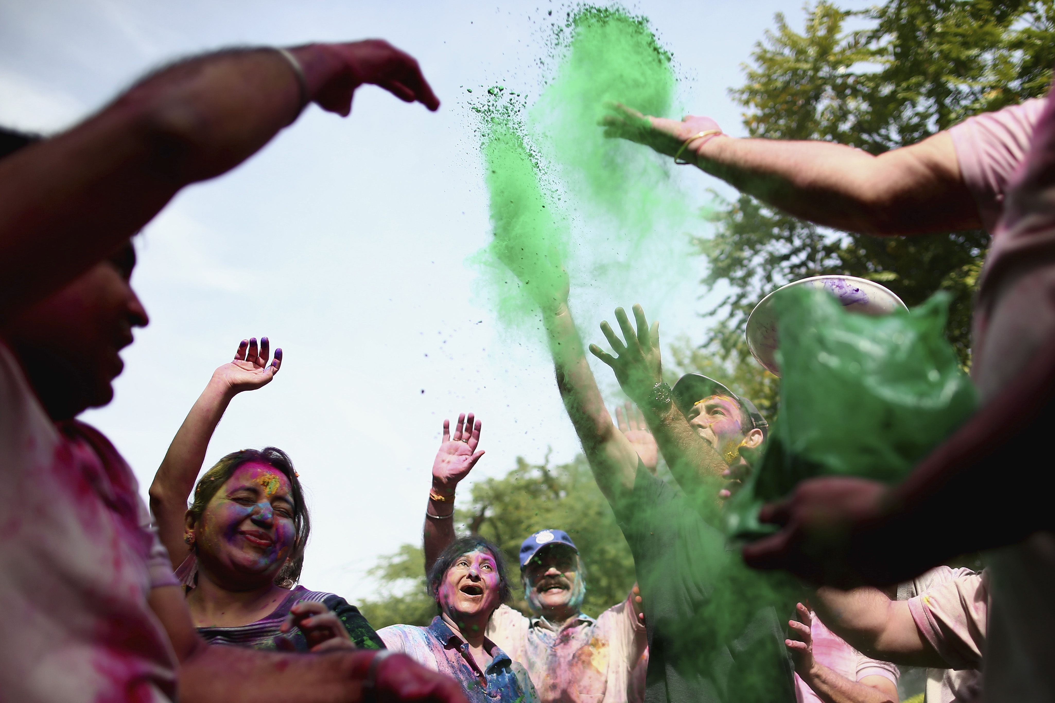 Holi Festival in Chandigarh, India