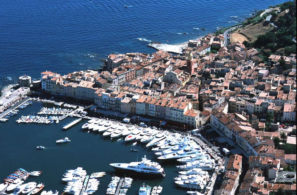 Aerial View of St. Tropez, France