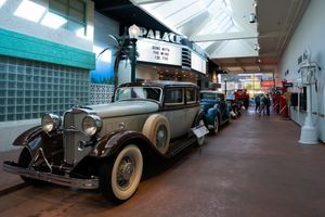 Line of classic cars in the National Automobile Museum