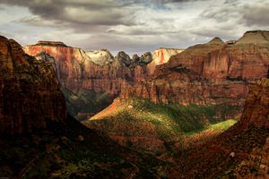 View of the canyons in Zion National Park