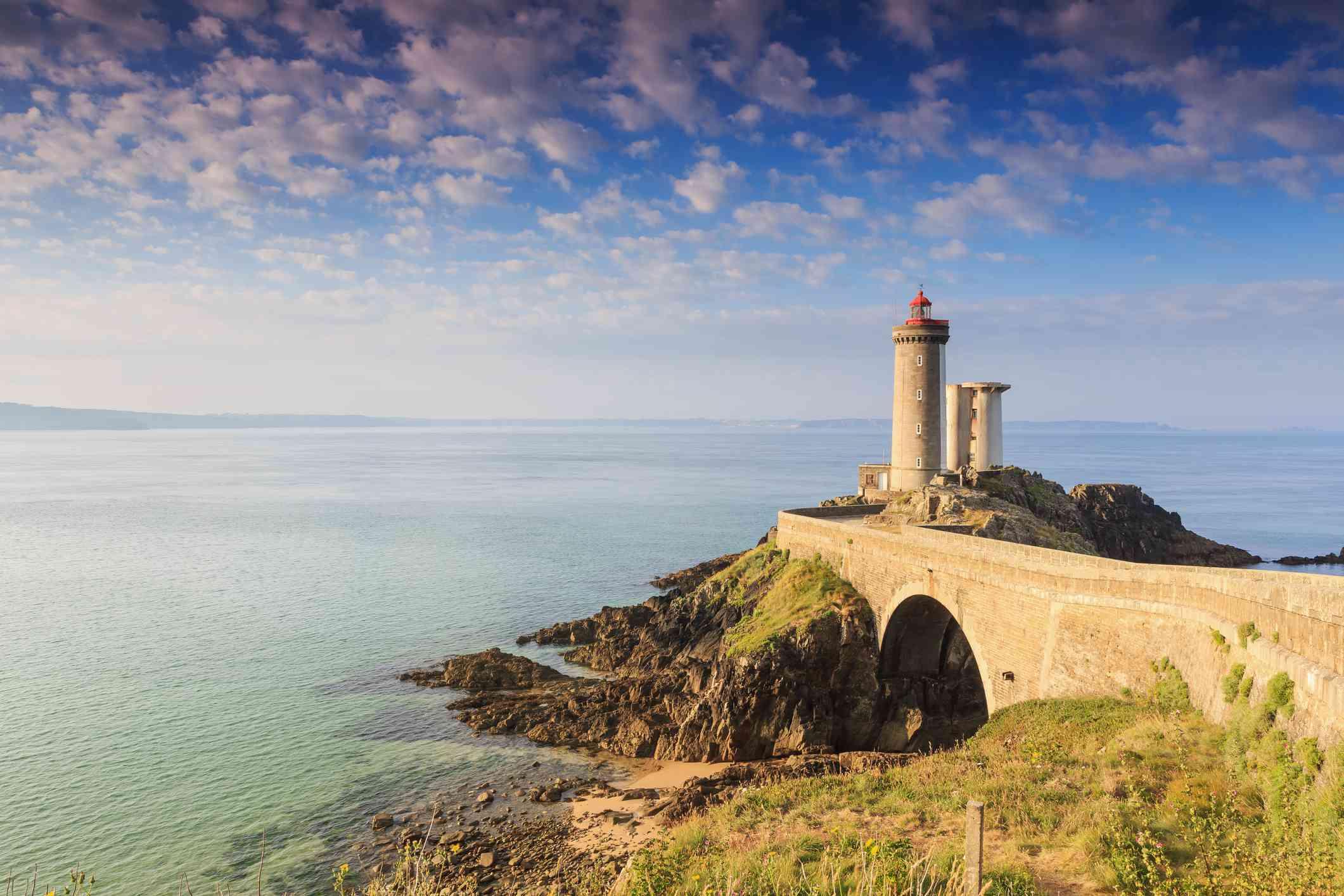 Minou Lighthouse in Finistère, Brittany, France