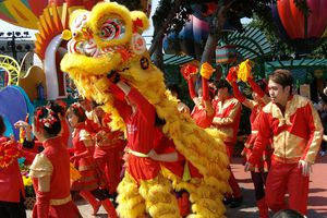Lion dance in Hong Kong