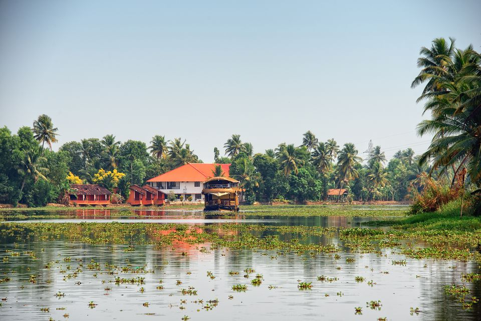 Home on Kerala backwaters.