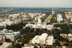 Washington, DC from above