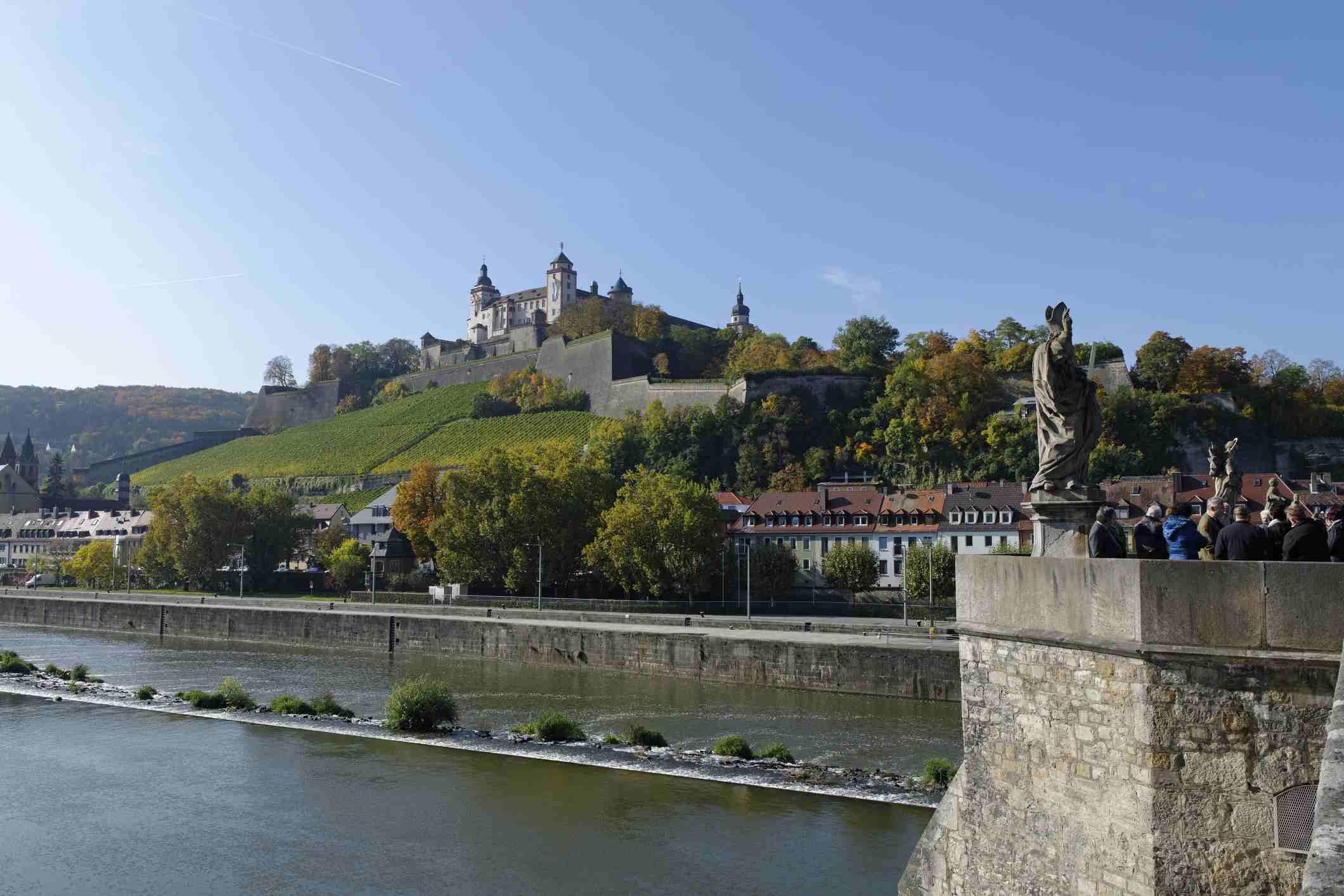 Germany, Bavaria, Wurzburg, Marienberg fortress