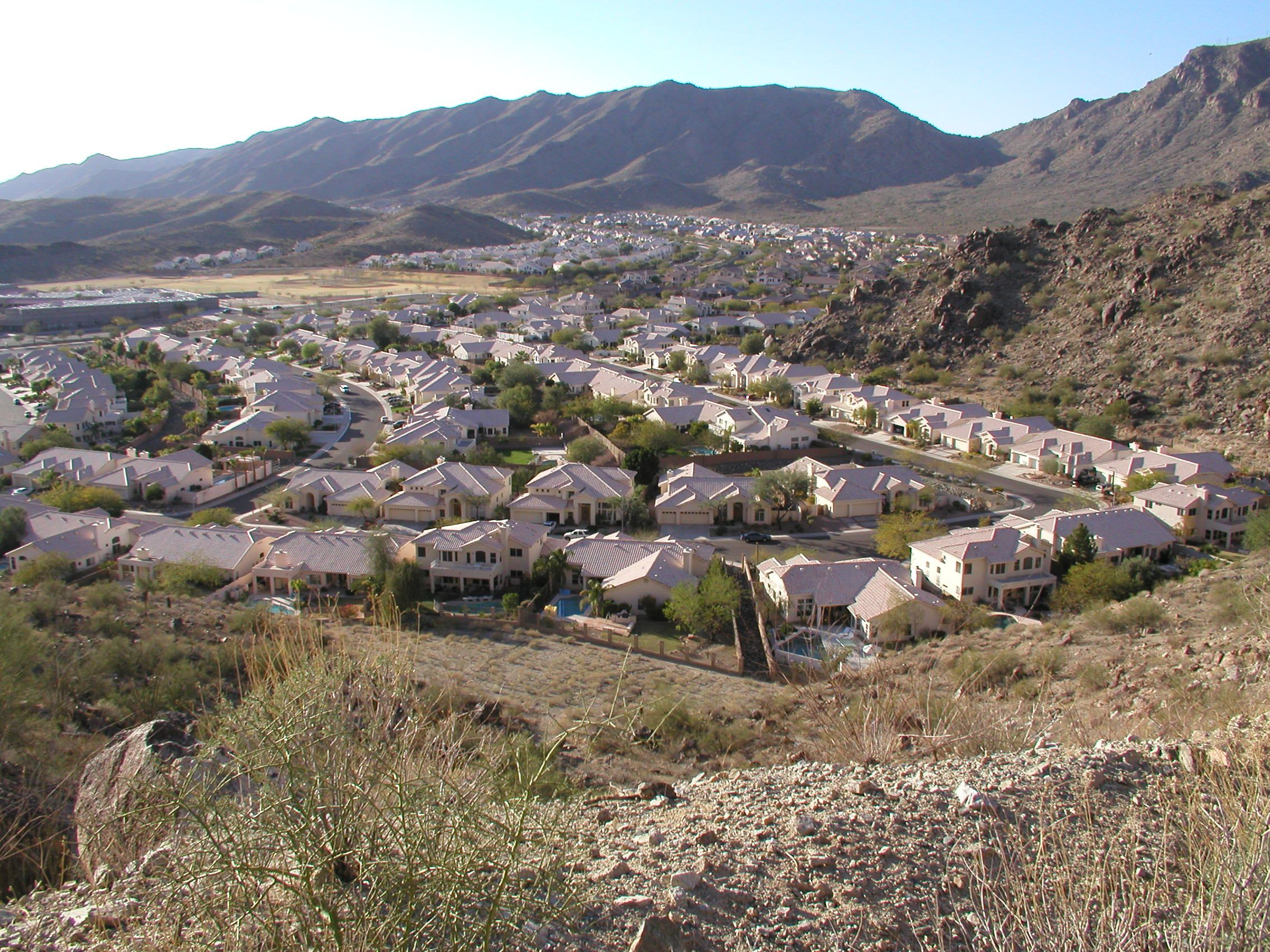 A typical Ahwatukee neighborhood as seen from South Mountain Park