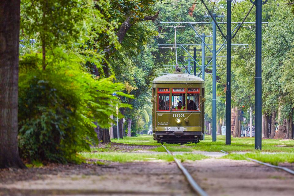 Historic Green Tram in New Orleans