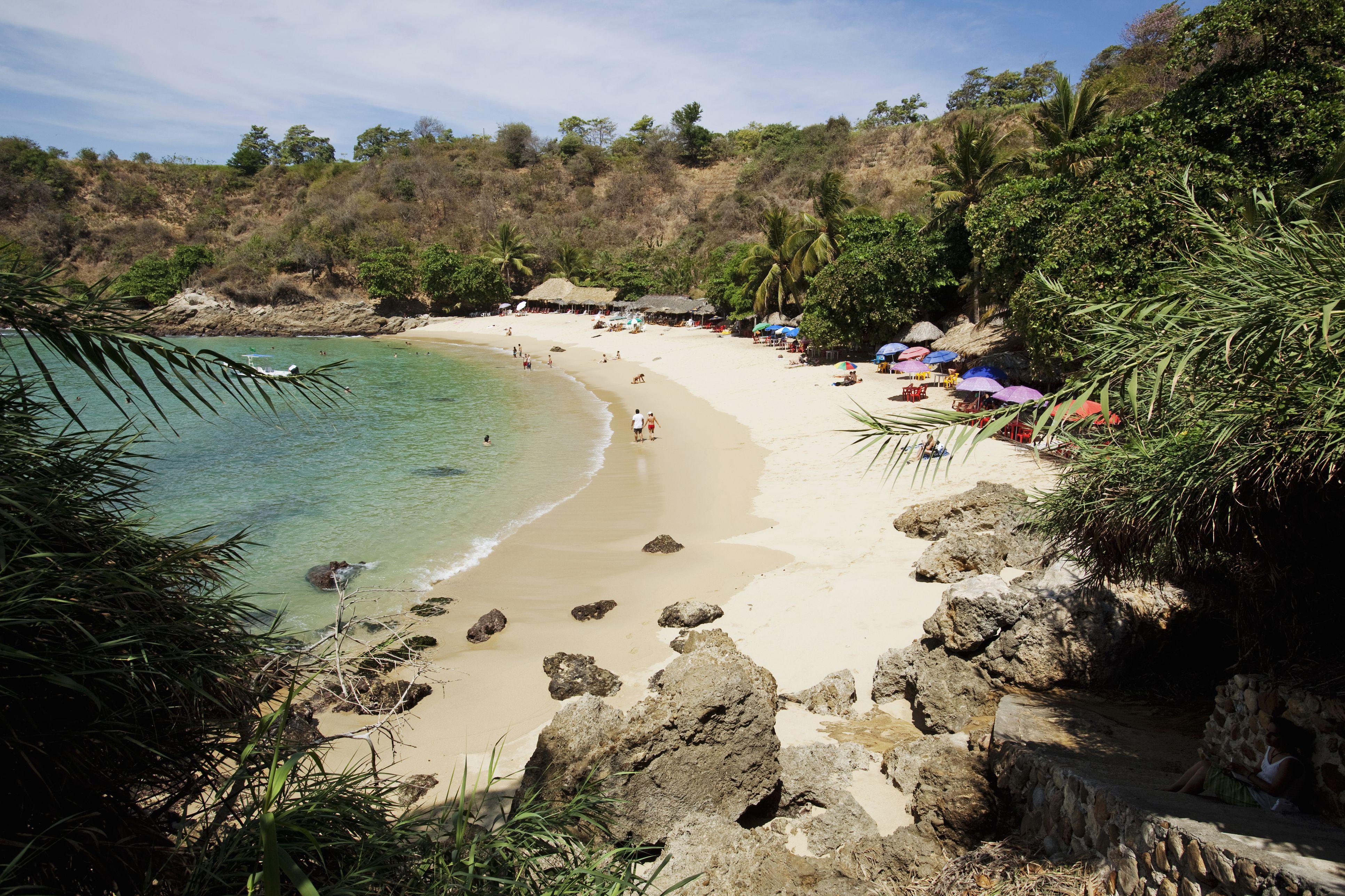 Beach at Puerto Escondido, Mexico