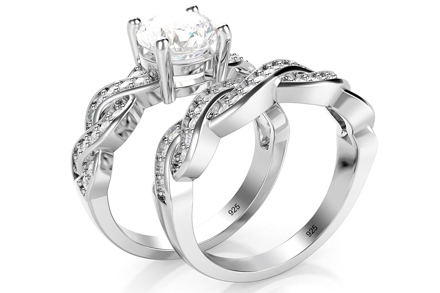 Best Infinity Band Metal Factory Sterling Zirconia Ring