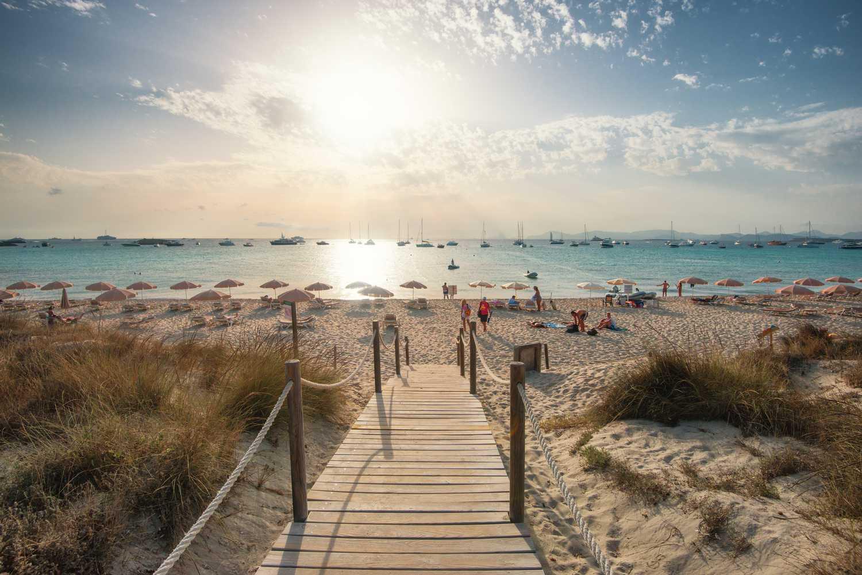 Beach on Formentera island, Spain
