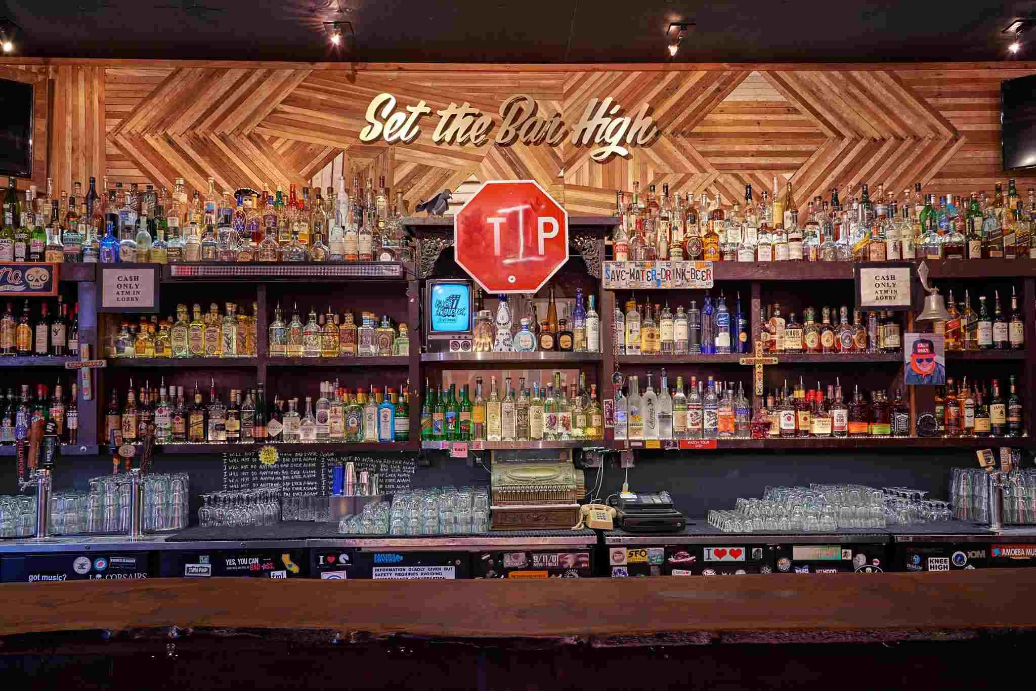Madrone Art Bar's bar