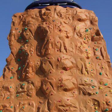 The rock climbing wall on the Norwegian Pearl