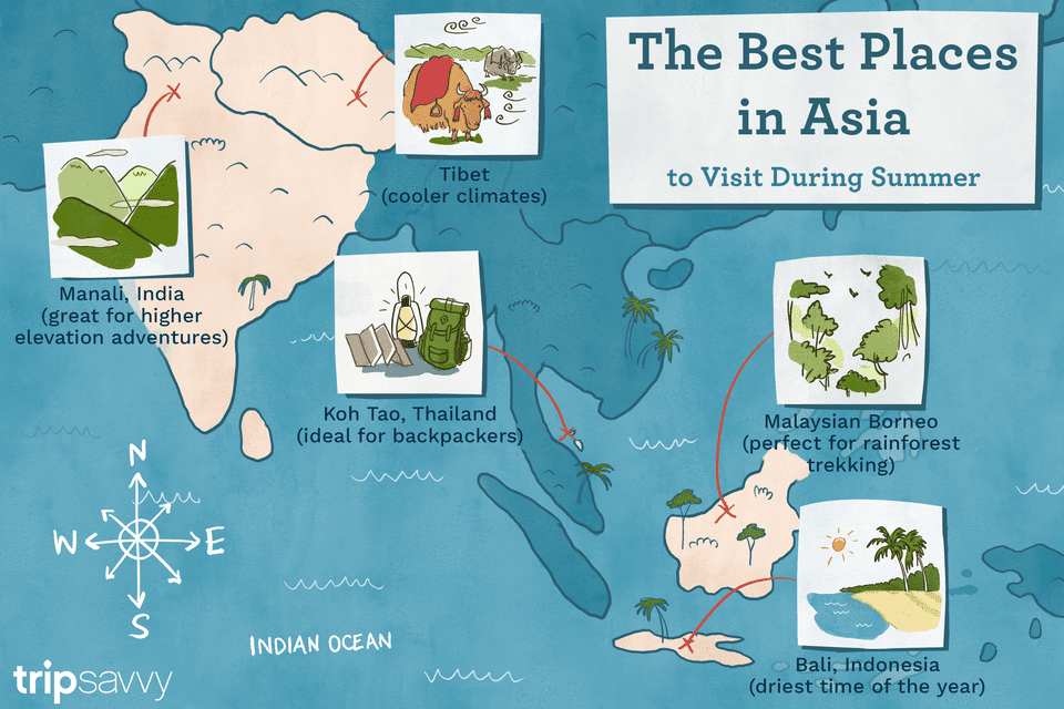 best places to go in asia during the summer