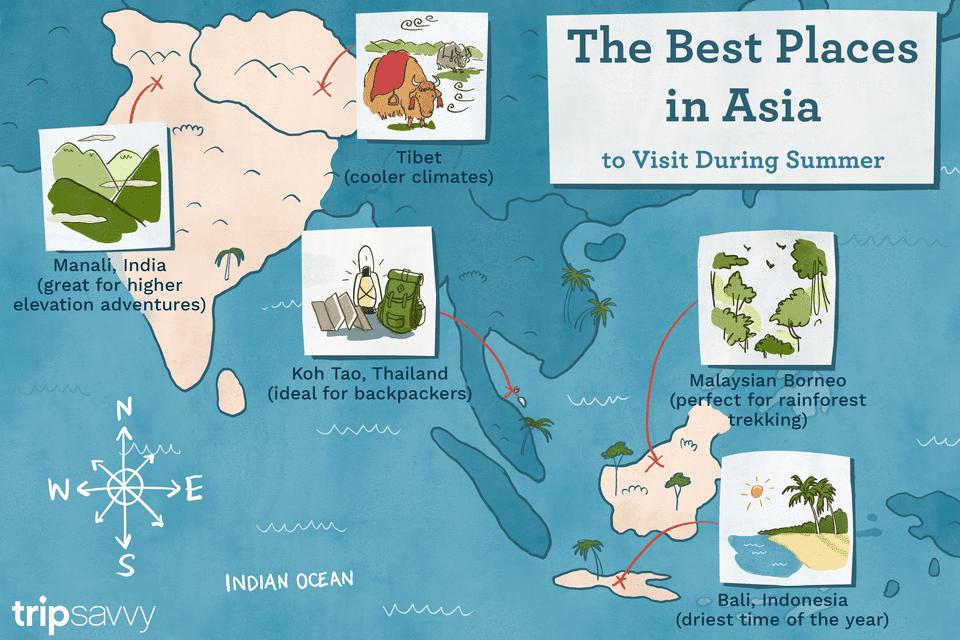 mejores lugares para ir en asia durante el verano