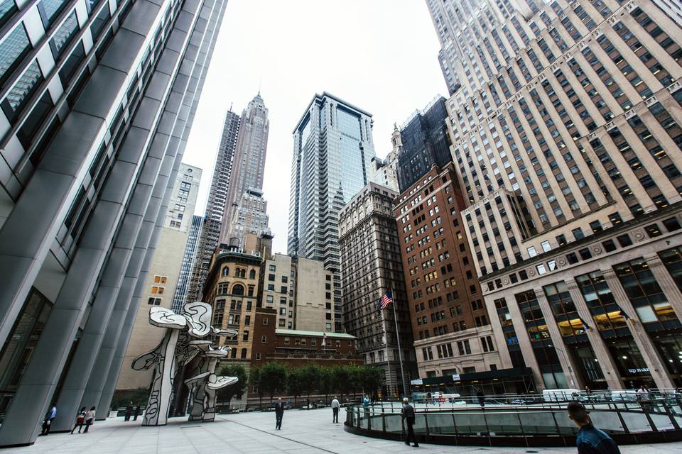 Financial District in Downtown Manhattan, New York City, USA