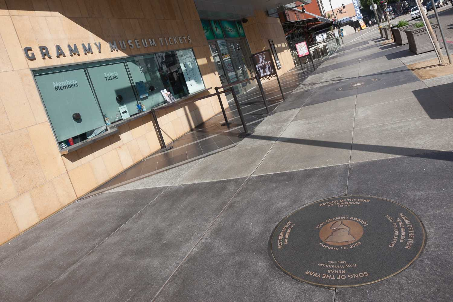GRAMMY Walk of Fame 2008 Medallion in front of the GRAMMY Museum at L.A. Live