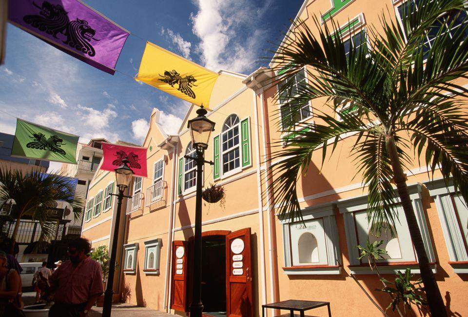 The 'Old Street' Shopping Arcade in Phillipsburg, Sint Maarten