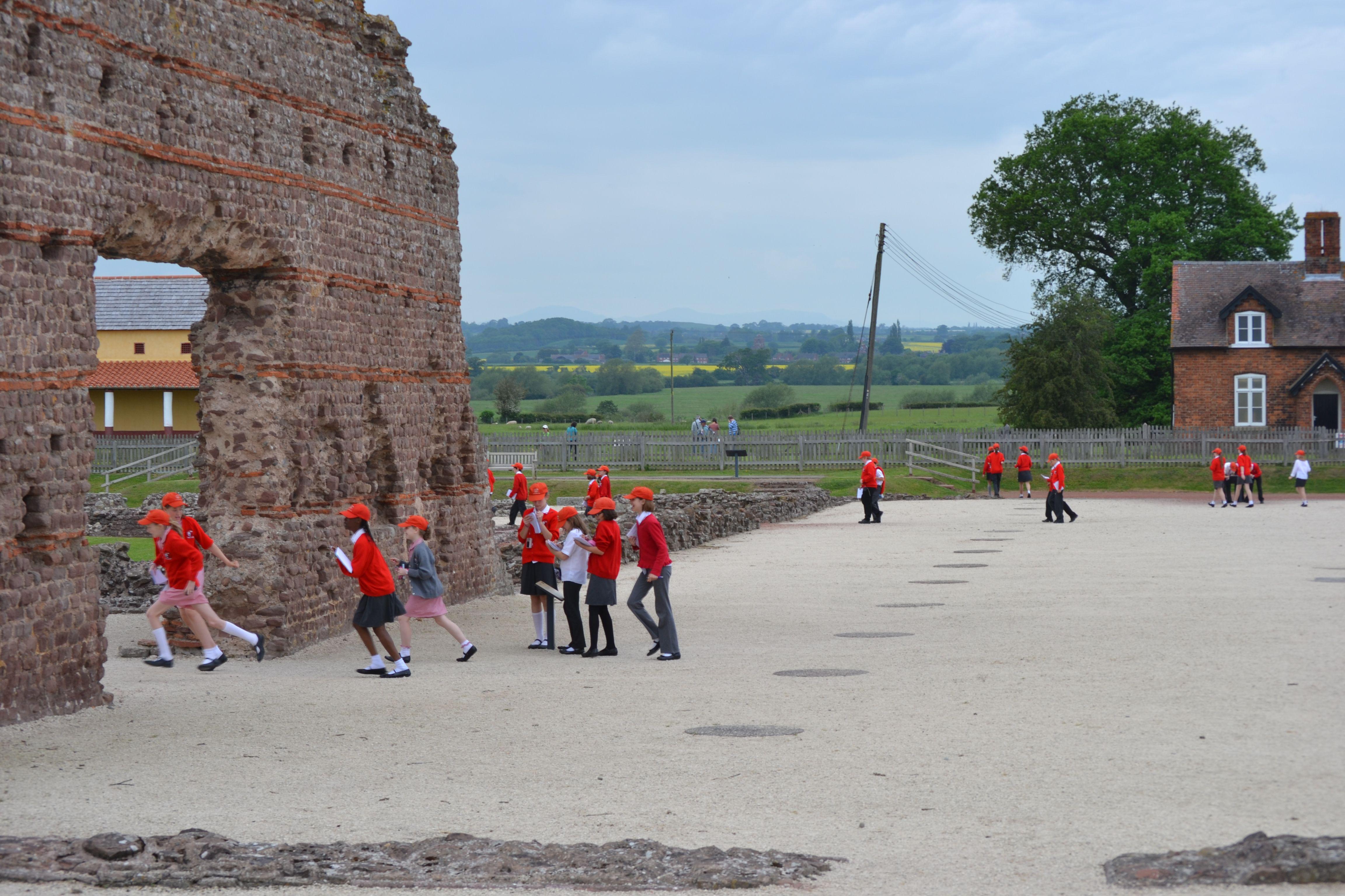 La ciudad romana de Wroxter en Shropshire es popular para los viajes escolares
