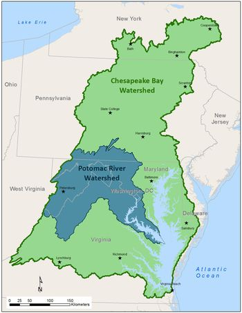 Chesapeake Bay On Map Of Usa.Maps Of The Chesapeake Bay