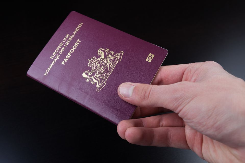 Person holding a Dutch passport