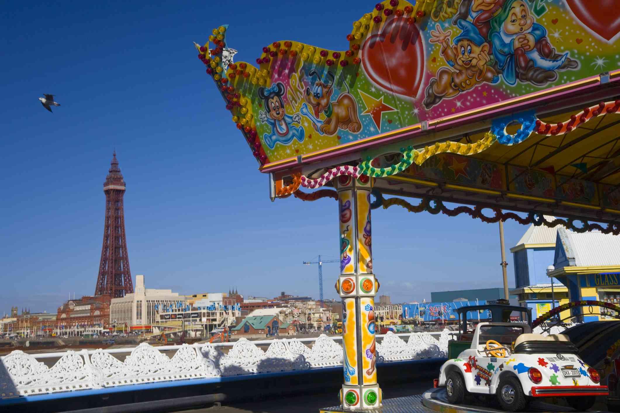 Blackpool Pleasure Beach in Blackpool, England