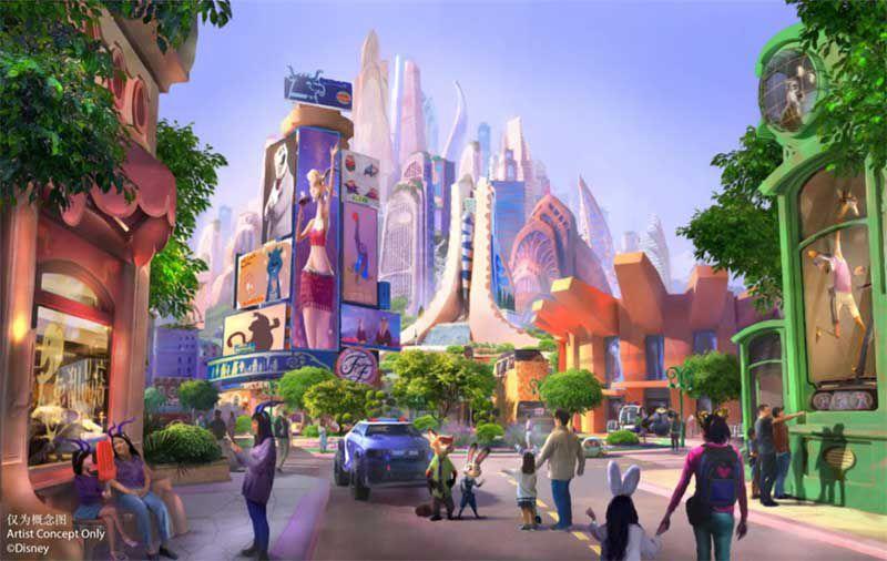 Zootopia land Shanghai Disneyland