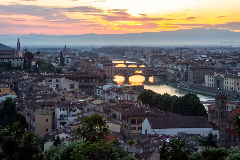 View from Piazzela Michelangelo in Florence, Italy