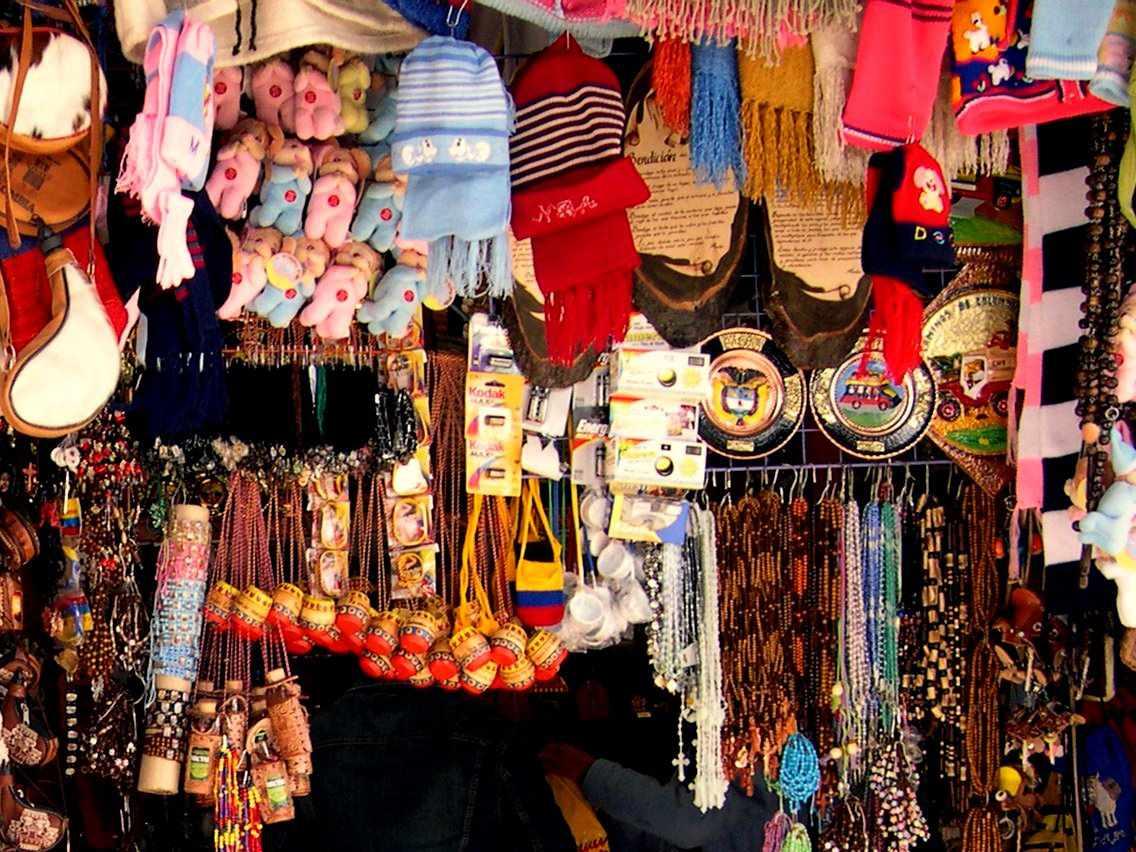 Artisan shopping in Bogota