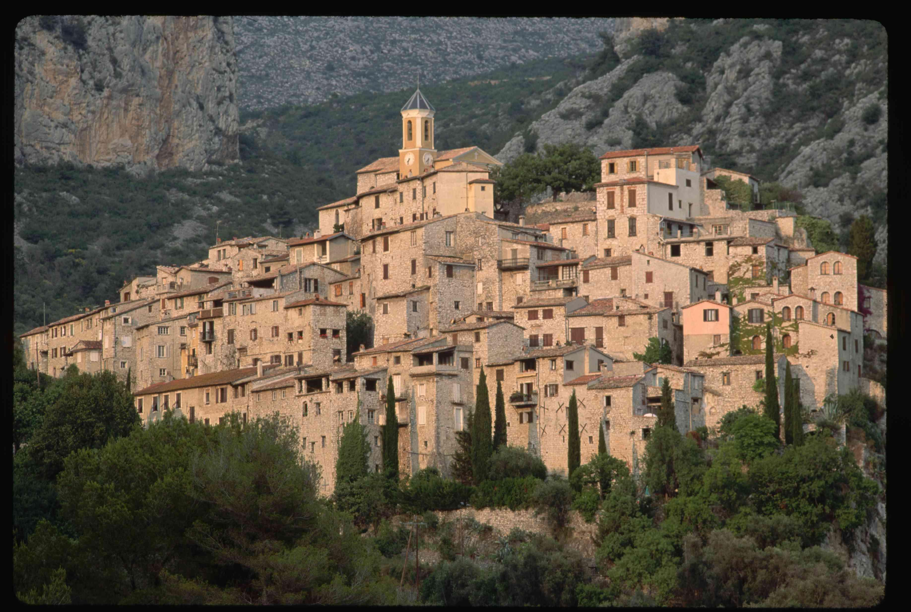 Peillon, a village in France