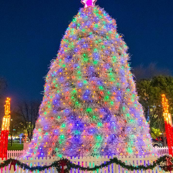 Chandler Tumbleweed Christmas Tree - Chandler, AZ Parade Of Lights, Tumbleweed Tree Lighting